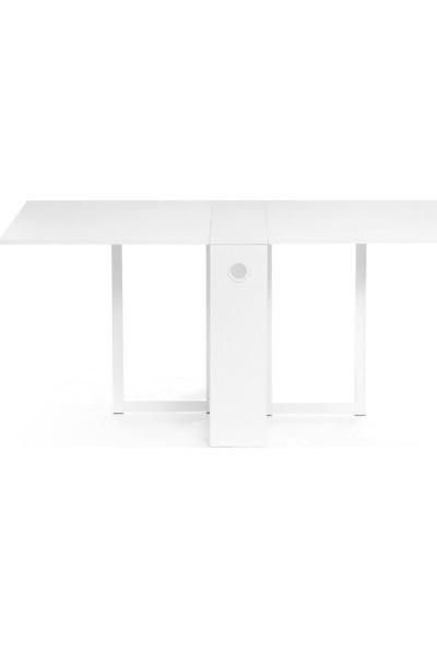 Evka Ahşap Katlanır Masa Beyaz