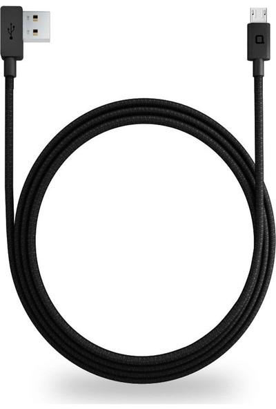 Nonda Zus Kevlar 90° Yan Açılı Super Duty Kablo Apple Lightning Apple iPhone ve iPad Data ve Şarj Kablosu Made For Apple 5/5s/5c/5se/6+plus/6s+plus/7+plus/8+plus/10