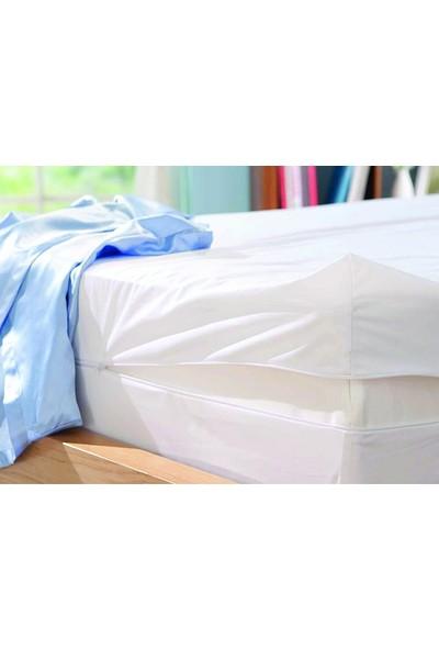 Akomp Premium Pamuk Anti Alerjik-Anti Bakteriyel Yatak Koruyucu Kılıf 160x200 Beyaz