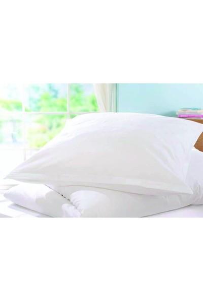 Akomp Premium Pamuk Anti Alerjik-Anti Bakteriyel Yastık Koruyucu Kılıf 050x070 Beyaz