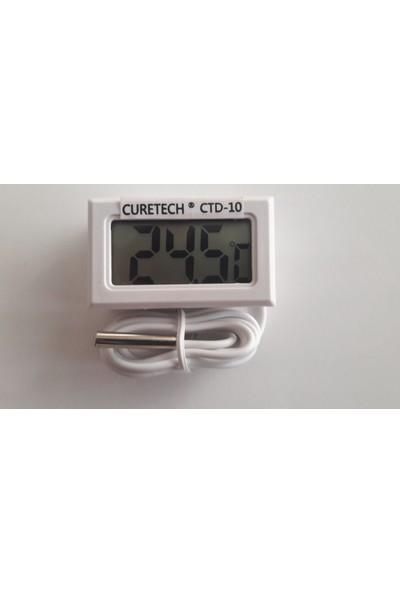 Curetech Köşe Teknoloji CTD10 Dijital Termometre Sıcaklık Ölçer Problu Mini Termometre