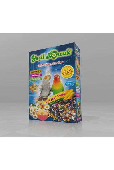 Yeşil Boncuk Paraket Kuş Yemi 800 Gr