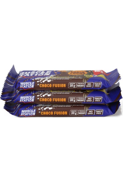 Musclestation 65gr Protein Bar (Whey & Casain) Choco Fusion