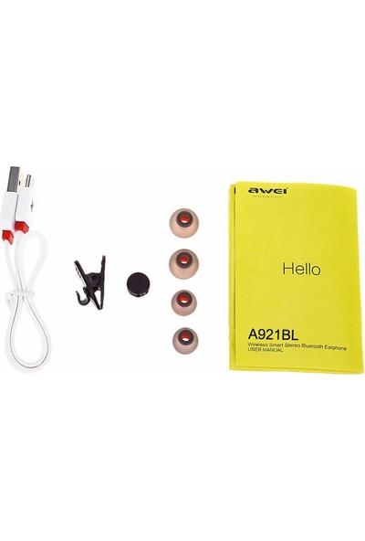 Awei Mıknatıslı Kablosuz Bluetooth Kulaklık A921BL Siyah - Siyah