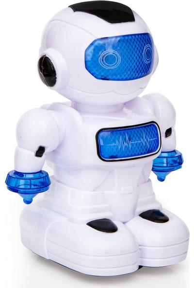 Can-Em Oyuncak Sesli Işıklı Pilli Robot 3060