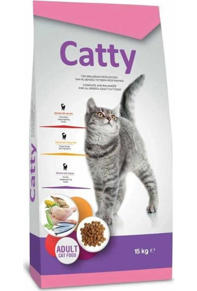 Catty yetişkin Kedi maması 15 kg
