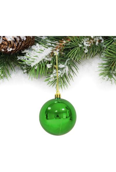 Yılbaşı Yeşil Top Ağaç Süsü 6cm 6'lı