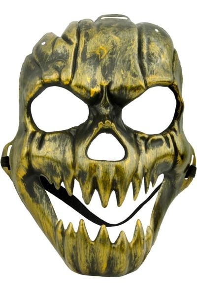 Partijet Halloween Kafatası Maske Altın