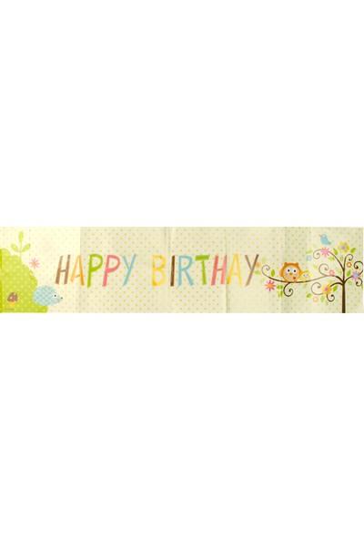 Partijet Sevimli Hayvanlar Happy Birthday Kağıt Afiş