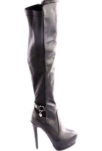 Guja 17K95-2 Kadın Gizli Platform Arkası Stretch Thigh High Çizme