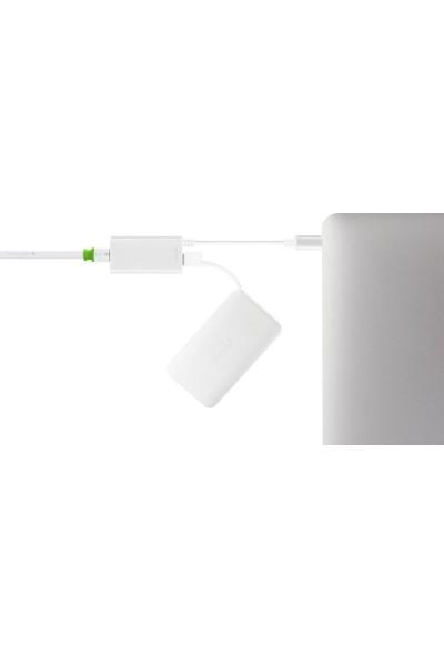 Moshi USB-C / Gigabit Ethernet Gümüş Renk Çevirici