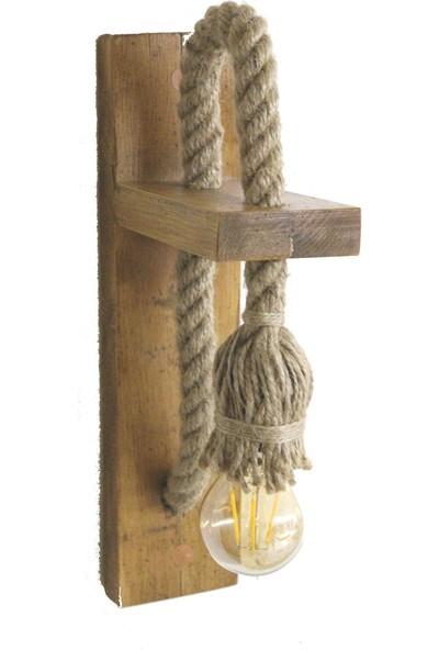 Iron Rope Halatlı Ahşap Aplik