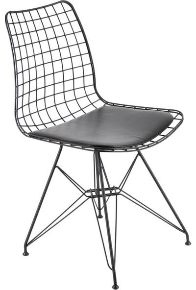 Ak Sandalye Kafesli Tel Sandalye