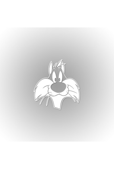 Otografik - Sylvester Oto Sticker 20 x 23 cm Beyaz