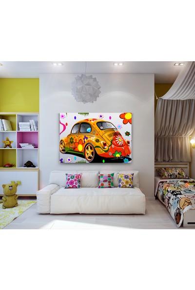 Evdeka Vosvos Desenli Çocuk Kanvas Tablo