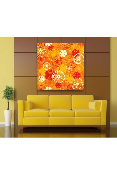 Evdeka Portakal Çiçeği Desenli Kanvas Tablo