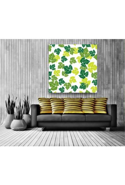 Evdeka Renkli Yaprak Bahçesi Temalı Kanvas Tablo