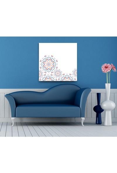 Evdeka Kalpli Nakış Desenli Kanvas Tablo