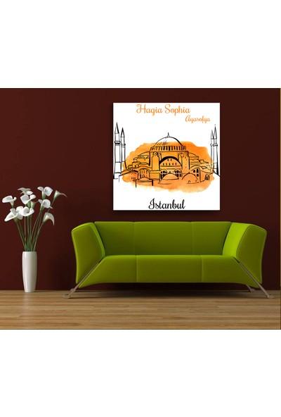 Evdeka Ayasofya Desenli Kanvas Tablo