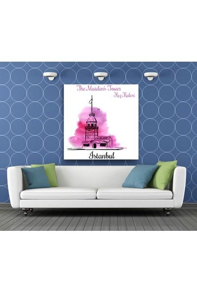 Evdeka Kız Kulesi Desenli Kanvas Tablo