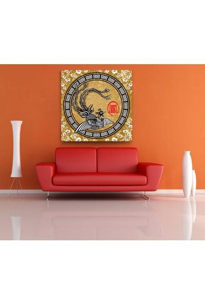 Evdeka Çin Kuşu Desenli Kanvas Tablo