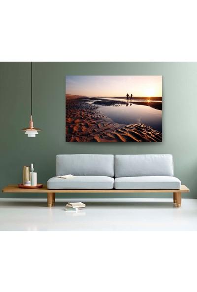 Evdeka Çamur Gölü Temalı Kanvas Tablo