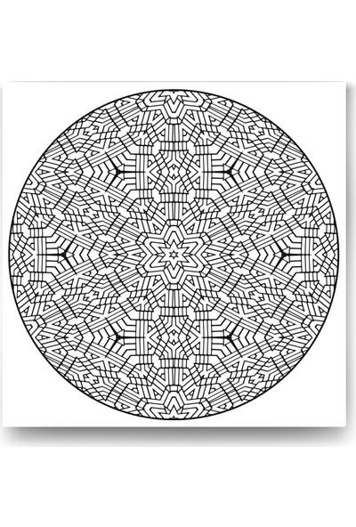 Evdeka Mozaik Desenli Mandala Kanvas Tablo