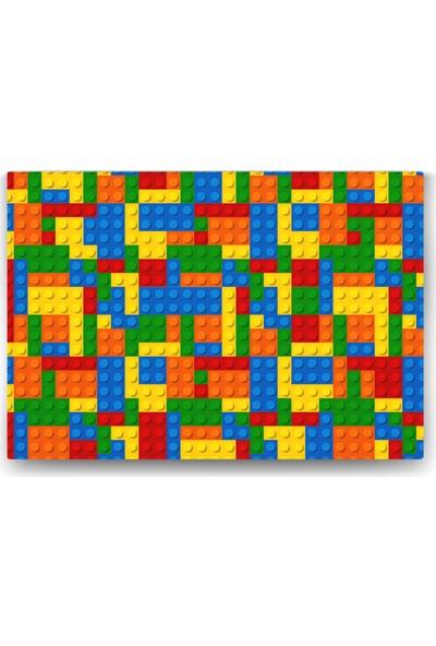 Evdeka Lego Desenli Çocuk Kanvas Tablo