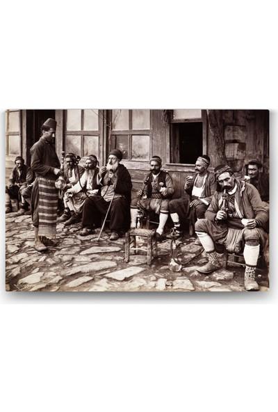 Evdeka Osmanlıda Nargile Temalı Kanvas Tablo