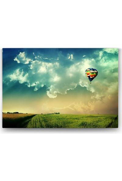 Evdeka Vadideki Balon Temalı Kanvas Tablo