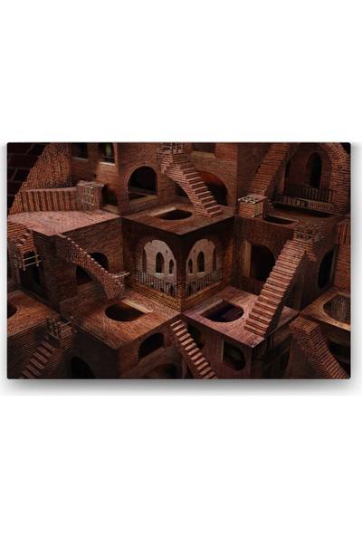 Evdeka Merdivenler Temalı Kanvas Tablo