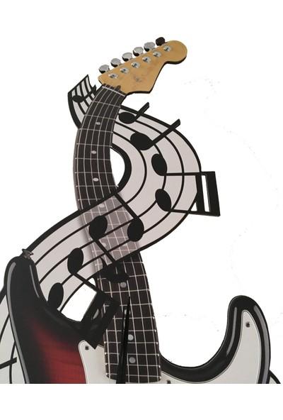 Gitar Sallanan Sarkaçlı Duvar Saati