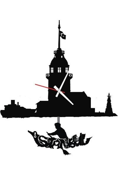 Kız Kulesi - Sallanan Sarkaçlı Duvar Saati