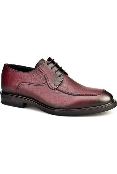 Cabani Bağcıklı Günlük Erkek Ayakkabı Bordo Hakiki Deri