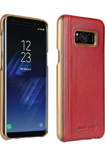 Pierre Cardin Samsung Galaxy S8 Plus Deri Kılıf PCL-P03 Bordo