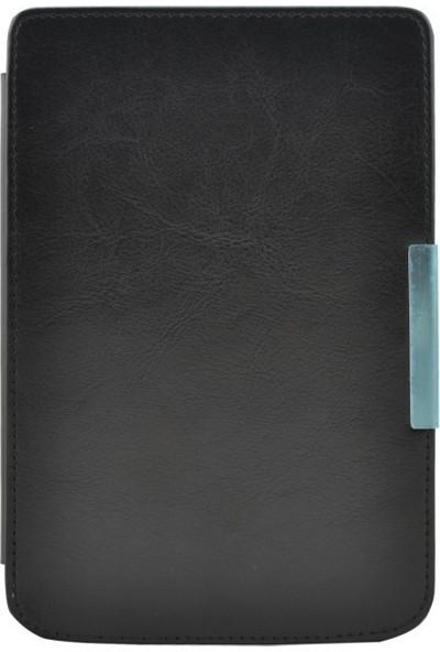 Calibro Touch Lux ve Pocketbook Touch Lux E-kitap Okuyucu Kılıfı Siyah