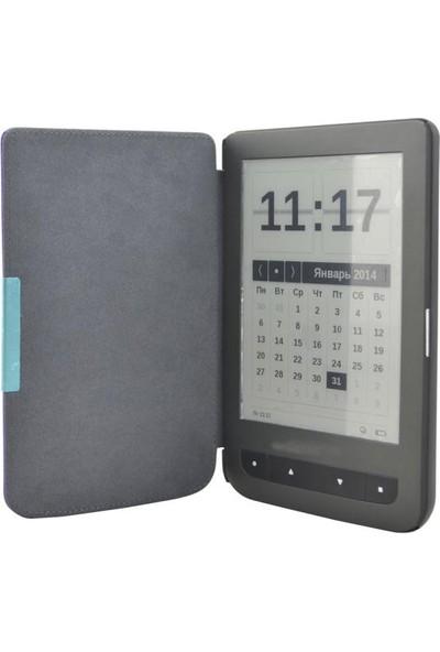 Calibro Basic ve Pocketbook Basic E-kitap Okuyucu Kılıfı Kahverengi