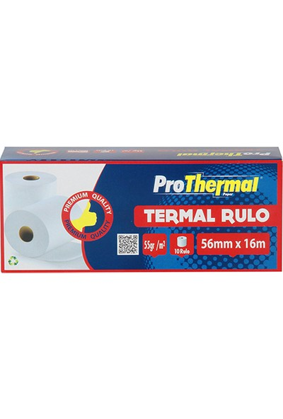ProThermal Termal Rulo 56 mm x 16 m 10 Adet