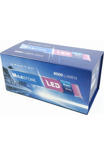 Photon Milestone H7 Led Xenon 8000 Lumen 6000 Kelvin ML2607 + Photon T10 Park Led
