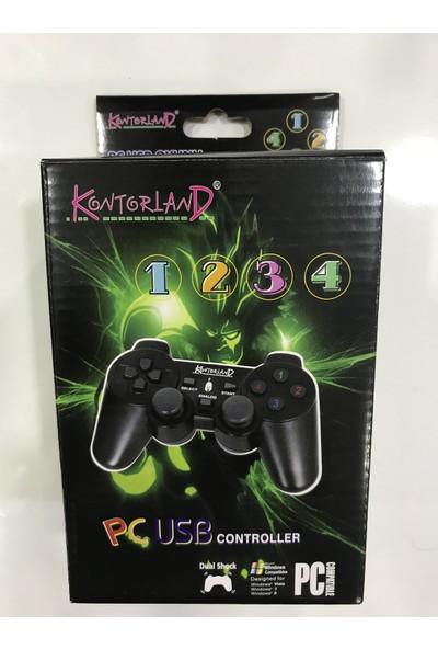 Kontorland KT-1080E PC USB Analog/Digital Titreşimli Gamepad