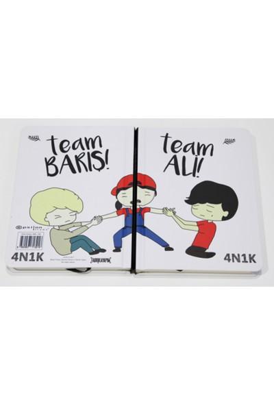 4N1K- 12X16 Cm Defter-Team Ali-Barış
