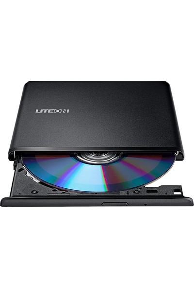 Lite-On ES1 USB2.0 Taşınabilir Ultra Slim DVD Okuyucu/Yazıcı (Smart TV Desteği Bulunmaktadır)(LTN-DN8A6NH)
