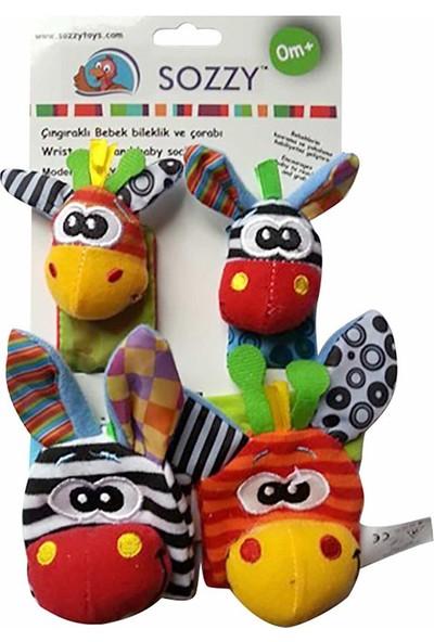 Sozzy Toys SZY101 Çıngıraklı Çorap ve Bileklik Seti