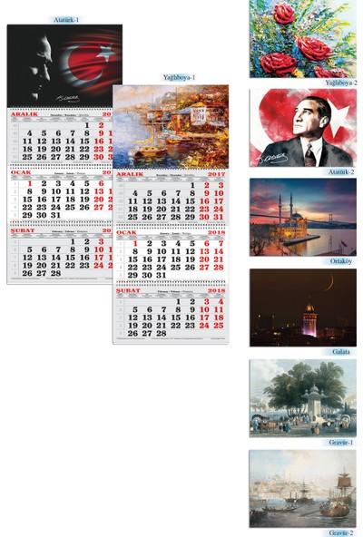 Keskin Color 3 Aylık Spiralli Denizci Takvim Atatürk 1