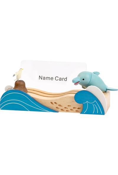 Wooderfullıfe Deniz Konseptli Kartvizitlik Dalgalar Ve Yunus Balığı 1253101
