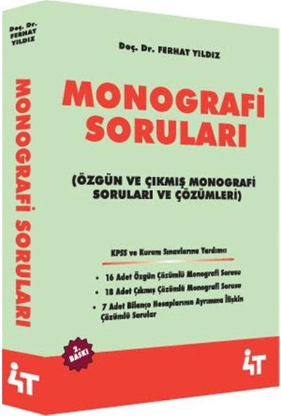 KPSS A Monografi Soruları Ferhat Yıldız