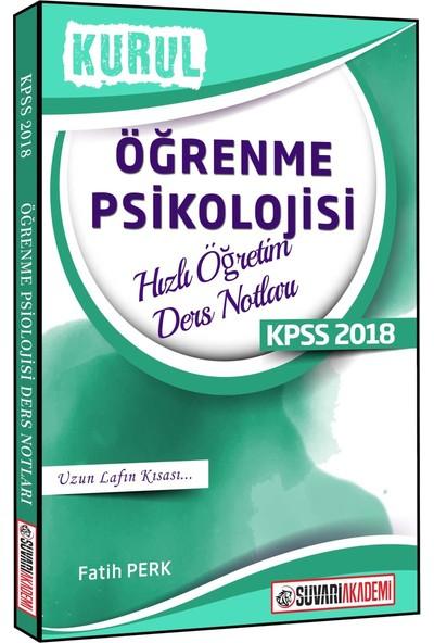 Süvari 2018 KPSS Kurul Öğrenme Psikolojisi Hızlı Öğretim Ders Notları