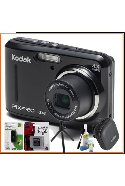 Kodak Pixpro FZ43 Siyah Hediye Kit