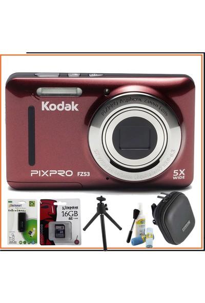Kodak Pixpro FZ53 Kırmızı Hediye Kit