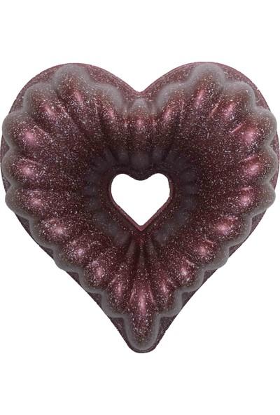 Aksu Extra Döküm Kek Kalıbı Kalp - Bronz
